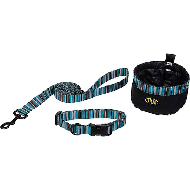 Bison Pet Dog 3-Piece Set in Turquoise Stripes - Carousel image #1