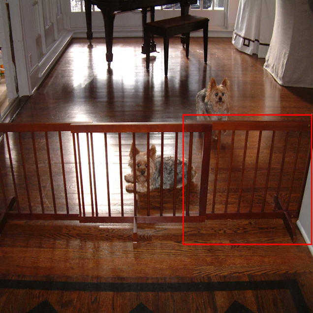 Cardinal Gates Walnut Step-Over Pet Gate Extension - Carousel image #1