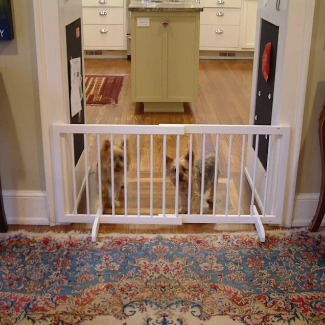Cardinal Gates White Step-Over Pet Gate - Carousel image #1