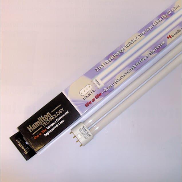 Hamilton Technology Compact 2-in-1 Actinic & Daylight 420nm Blue/10K White Linear Pin Aquarium Lamp - Carousel image #1