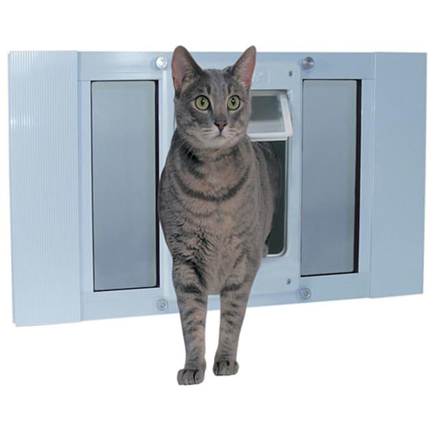 "Perfect Pet 33-38"" Chubby-Kat Sash Window Door, 15.625IN x 1.25IN x 27IN - Carousel image #1"