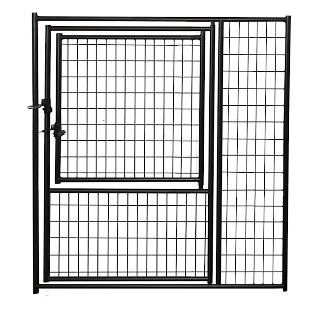 Lucky Dog Black Welded Wire Modular Gate in Gate, 5' W x 6' H - Carousel image #1