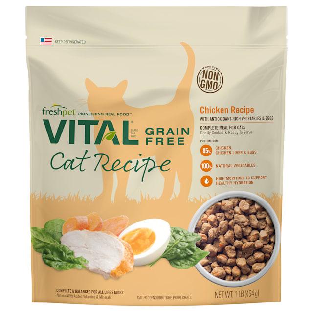 Freshpet Vital Grain-Free Chicken Recipe Complete & Balanced Dry Cat Food, 1 lbs. - Carousel image #1