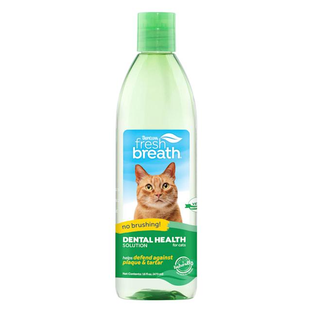 TropiClean Fresh Breath Dental Health Solution for Cats, 16 fl. oz. - Carousel image #1