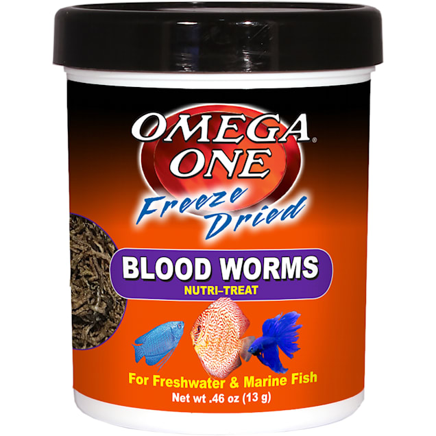 Omega One Freeze Dried Blood Worms, .46 oz. - Carousel image #1