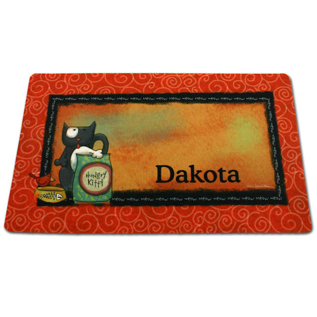 Drymate Hungry Kitty Personalized Pet Placemat - Carousel image #1