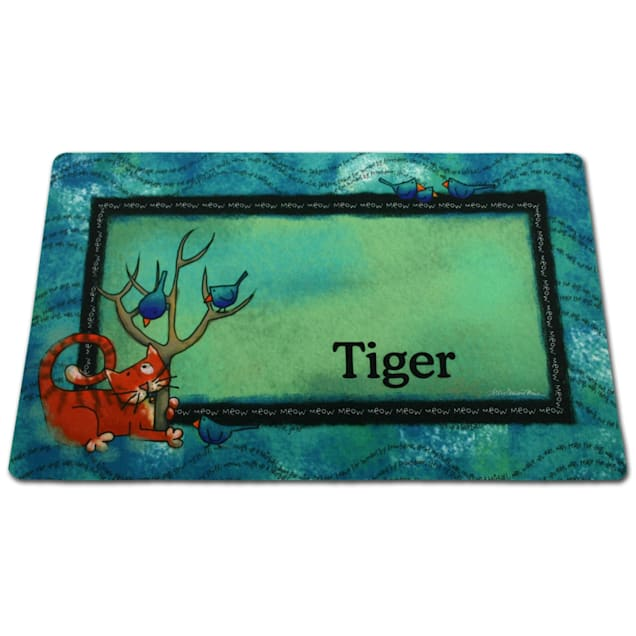 Drymate Tree Kitty Personalized Pet Placemat - Carousel image #1