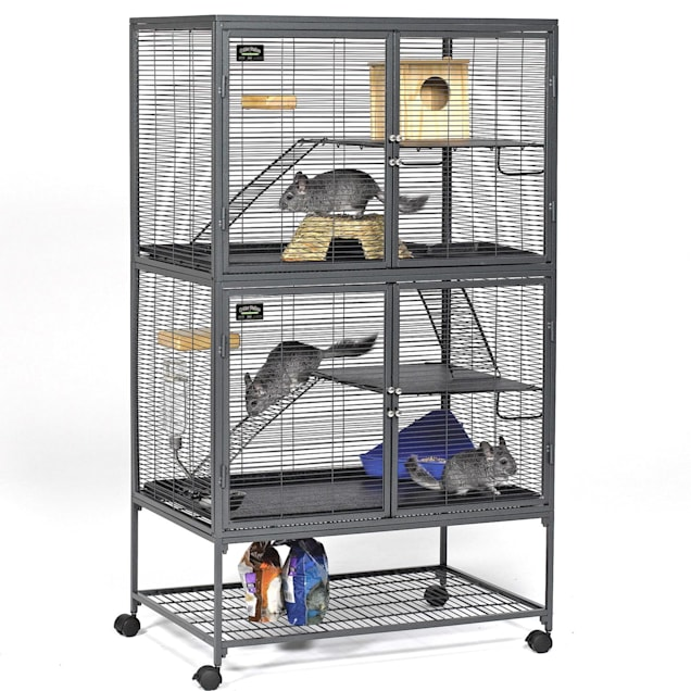 "Midwest Critter Nation Double Unit with Stand Small Animal Cage, 36"" L X 24"" W X 63"" H - Carousel image #1"