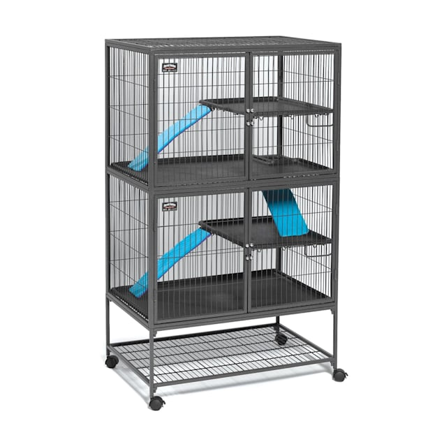 """Midwest Ferret Nation Double Unit with Stand Ferret Cage, 36"""" L X 25"""" W X 62.5"""" H - Carousel image #1"""