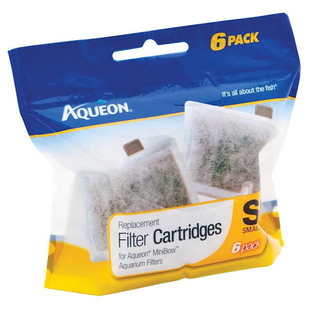 Aqueon MiniBow Replacement Filter Cartridges, Small, Pack of 6 - Carousel image #1