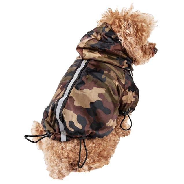 Pet Life Camouflage Reflecta-Sport Adjustable Reflective Weather-Proof Pet Rainbreaker Jacket, Medium - Carousel image #1