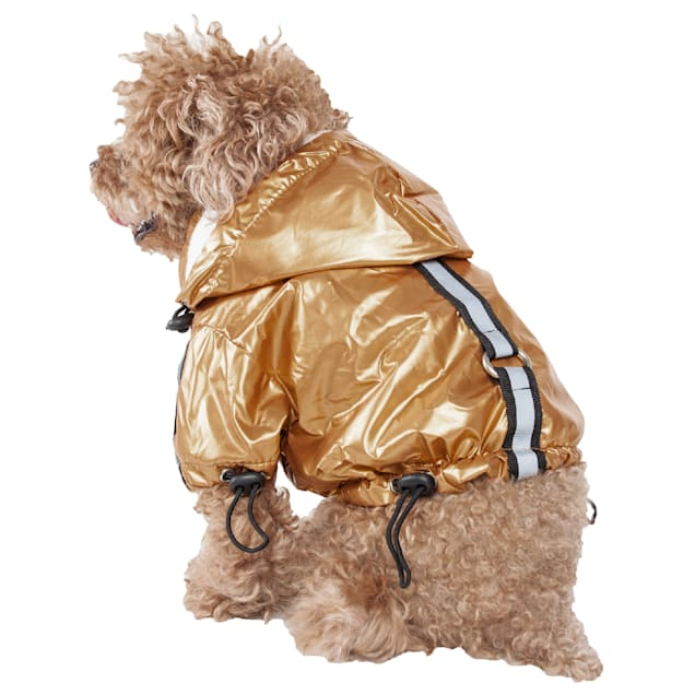 Pet Life Yellow Reflecta-Sport Adjustable Reflective Weather-Proof Pet Rainbreaker Jacket, Medium - Carousel image #1