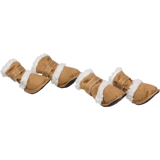 Pet Life Brown Shearling Paw Wear for Dogs, X-Small - Carousel image #1