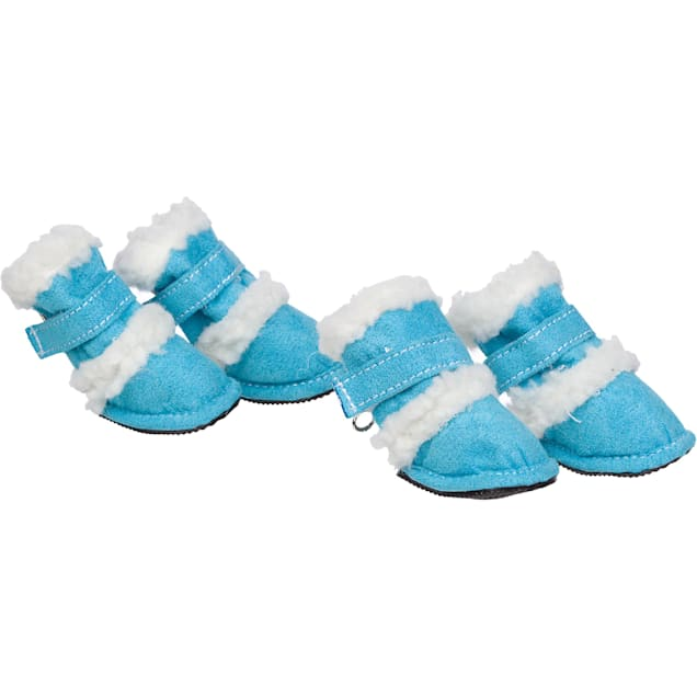 Pet Life Blue Shearling Paw Wear for Dogs, Medium - Carousel image #1