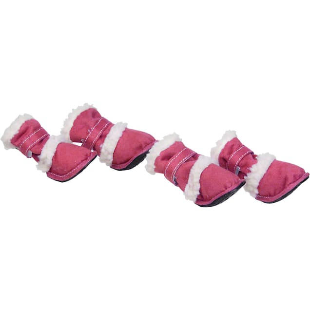 Pet Life Pink Shearling Paw Wear for Dogs, X-Small - Carousel image #1