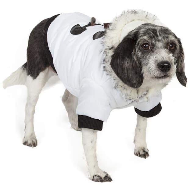 Pet Life Aspen Winter-White Fashion Pet Parka Coat, X-Small - Carousel image #1