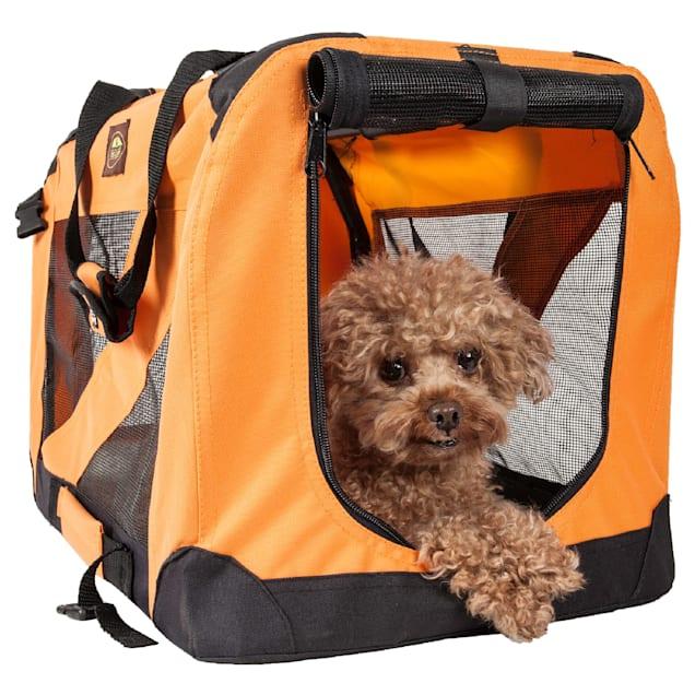 "Pet Life Folding Zippered 360 Degree Vista View House Pet Crate in Orange, 32"" L x 23"" W x 23"" H - Carousel image #1"