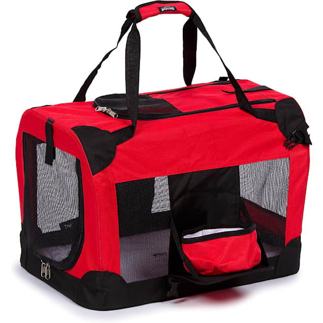 """Pet Life Folding Deluxe 360 Vista View House Carrier in Red, 23"""" L X 16"""" W X 16"""" H - Carousel image #1"""