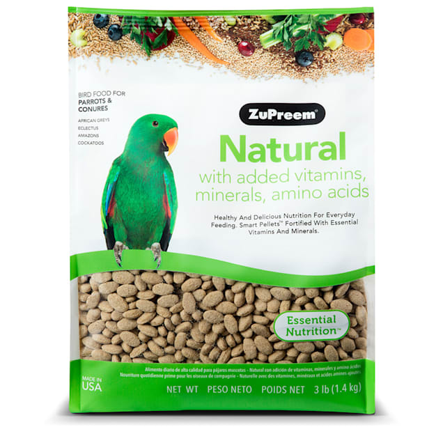 ZuPreem AvianMaintenance Natural Bird Diet for Parrots & Conures, 3 lbs. - Carousel image #1