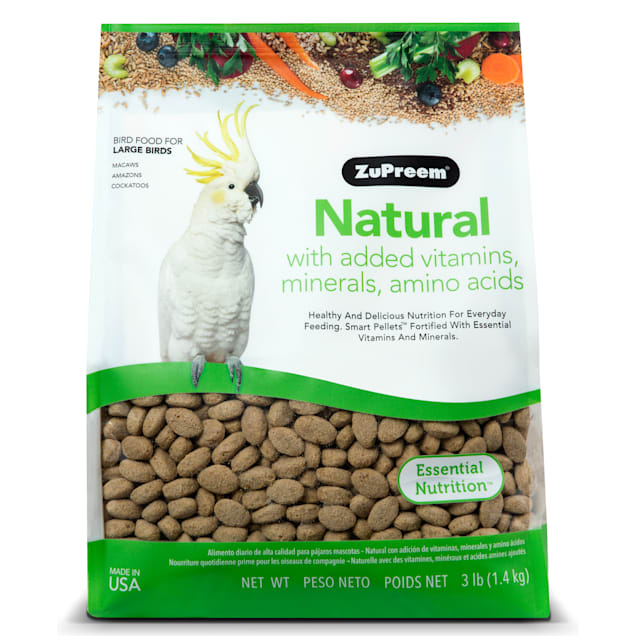 ZuPreem Classic AvianMaintenance Natural Bird Diet for Large Parrots, 3 lbs. - Carousel image #1
