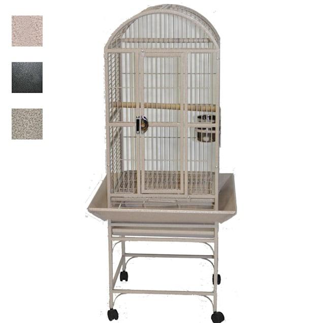 """A&E Cage Company Sandstone Classico Dometop Small Bird Cage, 18"""" L X 18"""" W X 51"""" H - Carousel image #1"""