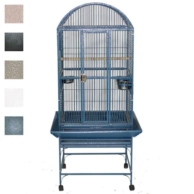 """A&E Cage Company Green Classico Dometop Medium Bird Cage, 24"""" L X 22"""" W X 61"""" H - Carousel image #1"""