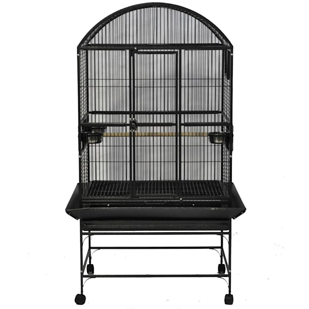 "A&E Cage Company Stainless Steel Palace Dometop Bird Cage, 32"" L X 23"" W X 63"" H - Carousel image #1"