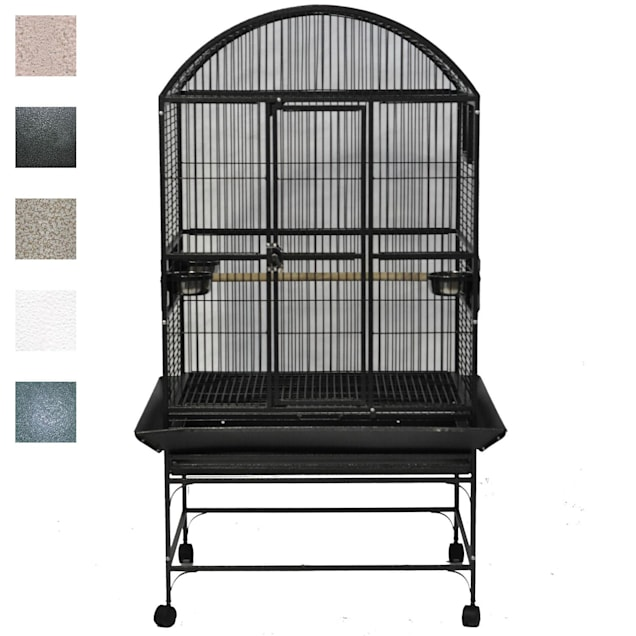 "A&E Cage Company Green Palace Dometop Bird Cage, 32"" L X 23"" W X 63"" H - Carousel image #1"