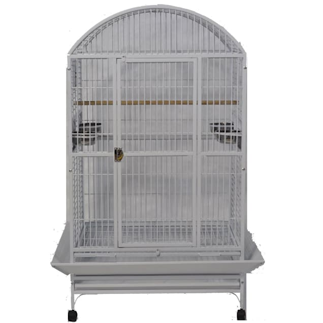 """A&E Cage Company Stainless Steel Palace Dometop X-Large Bird Cage, 36"""" L X 28"""" W X 65"""" H - Carousel image #1"""