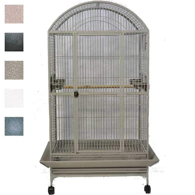 """A&E Cage Company Platinum Macaw Mansion Dometop Bird Cage, 40"""" L X 30"""" W X 75"""" H - Carousel image #1"""