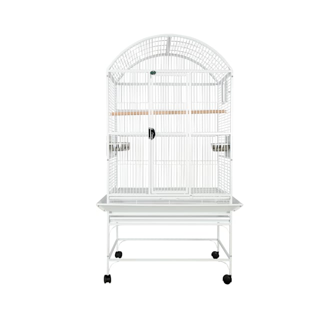 "A&E Cage Company White Palace Dometop Bird Cage, 32"" L X 23"" W X 63"" H - Carousel image #1"