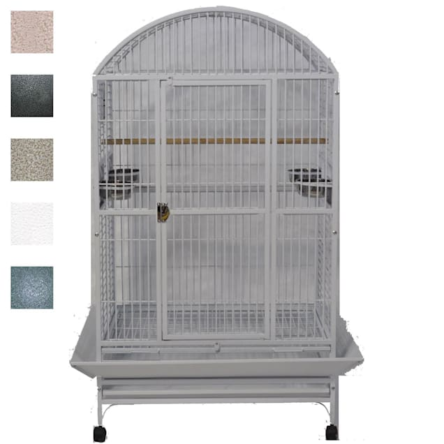 """A&E Cage Company Grey Palace Dometop X-Large Bird Cage, 36"""" L X 28"""" W X 65"""" H - Carousel image #1"""