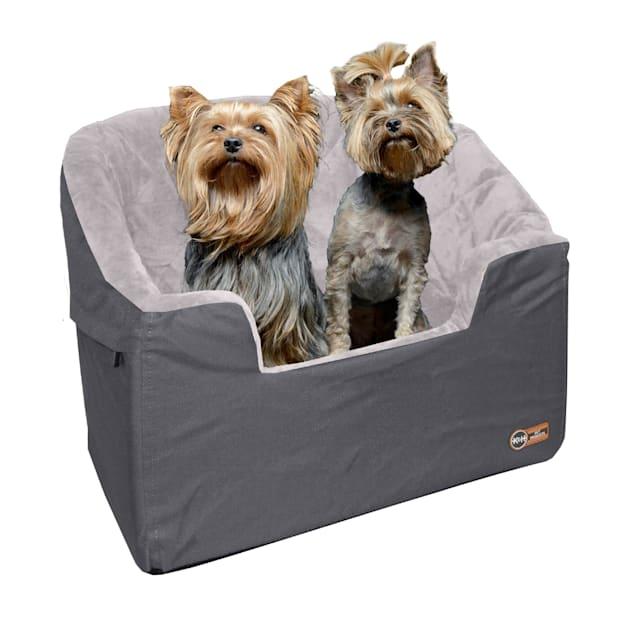 "K&H Gray Bucket Booster Pet Car Seat, Large, 19.5"" L X 14.5"" W X 22"" H - Carousel image #1"