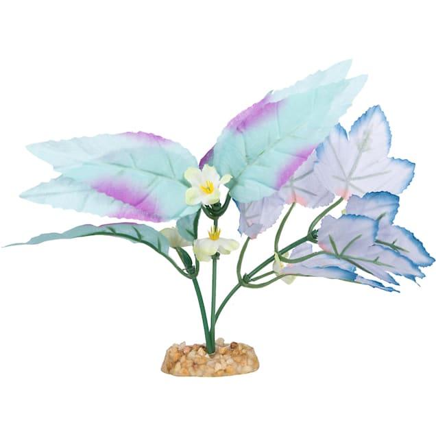 Imagitarium Blue Purple Leaf Mix Silk Aquarium Plant - Carousel image #1