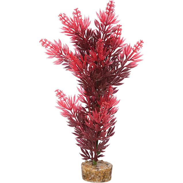 Imagitarium Red Bush Plant Plastic Aquarium Plant, Large - Carousel image #1
