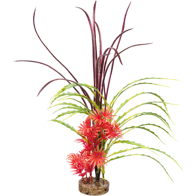 Imagitarium Red & Green Fiesta Beauty Plastic Aquarium Plant - Carousel image #1