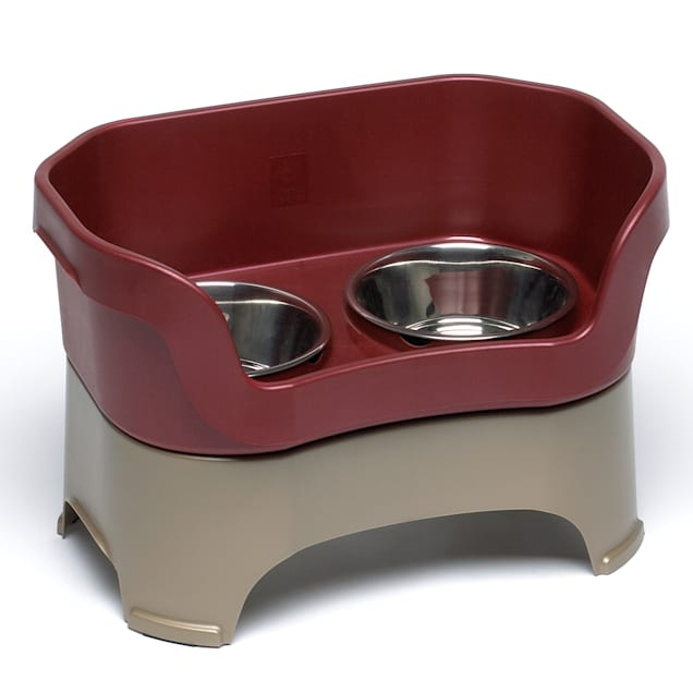 "Neater Brands Cranberry Elevated Dog Diner, 14"" L X 9"" W X 6.5"" H, Small - Carousel image #1"