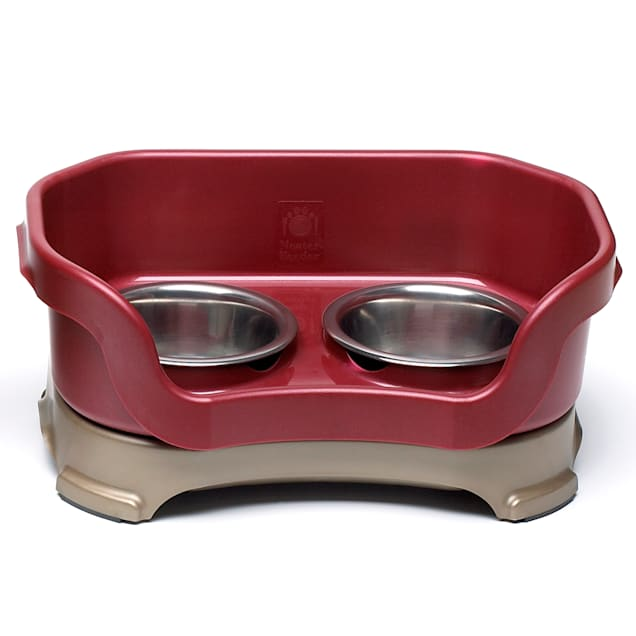 """Neater Brands Cranberry Elevated Cat Diner, Bowl Height: 3"""" from floor - Carousel image #1"""