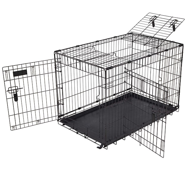"Precision Pet 4000 Elite 3 Door Great Crate in Black, 36"" L X 23"" W X 25"" H - Carousel image #1"