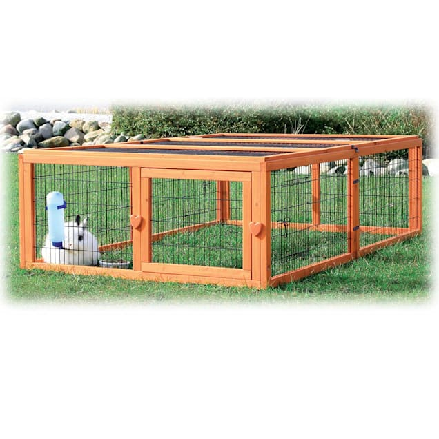 "TRIXIE Natura Flat Roof Outdoor Rabbit Run, 18.75"" L X 68.5"" W X 42.75"" H - Carousel image #1"