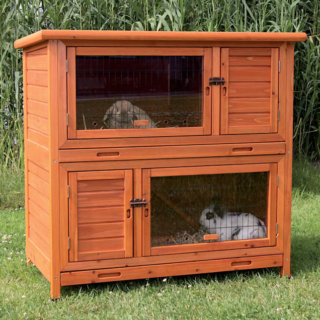 """Trixie Natura Insulated Two Story Rabbit Hutch, 45.5"""" L X 44.5"""" W X 25.5"""" H - Carousel image #1"""