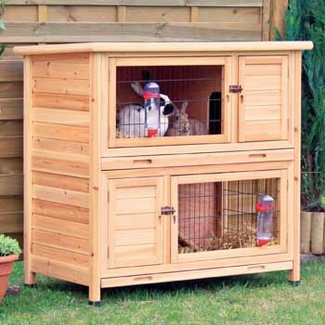 """Trixie Natura Two Story Animal Hutch in Brown, 45.5"""" L X 25.5"""" W X 43.5"""" H - Carousel image #1"""