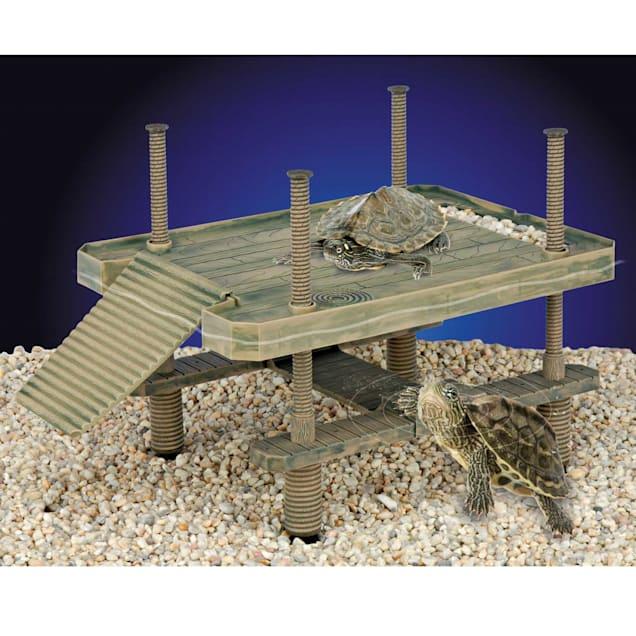 "Penn Plax Reptology Life Science Floating Turtle-Pier Basking Platform, Large, 16"" L X 11"" W - Carousel image #1"