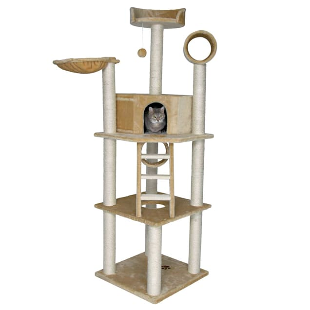 "Trixie Montilla Cat Tree in Beige, 77.5"" H - Carousel image #1"