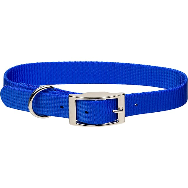 "Coastal Pet Metal Buckle Nylon Personalized Dog Collar in Blue, 5/8"" Width - Carousel image #1"
