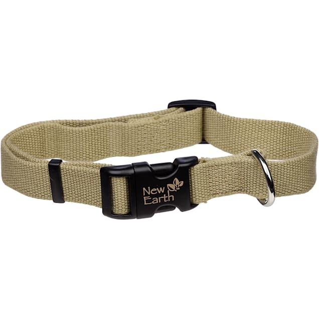Coastal Pet New Earth Adjustable Personalized Soy Dog Collar in Olive - Carousel image #1