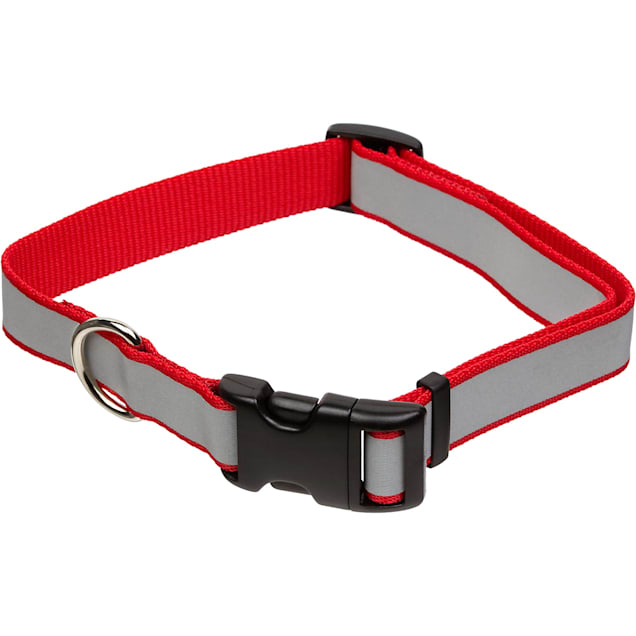 """Coastal Pet Lazer Brite Personalized Reflective Dog Collar in Red, 1"""" Width - Carousel image #1"""