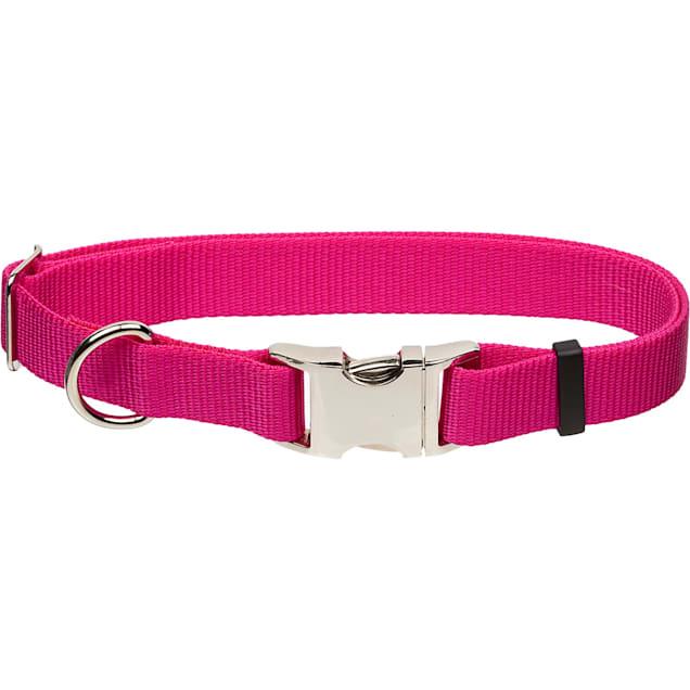 "Coastal Pet Metal Buckle Nylon Adjustable Personalized Dog Collar in Pink Flamingo, 1"" Width - Carousel image #1"