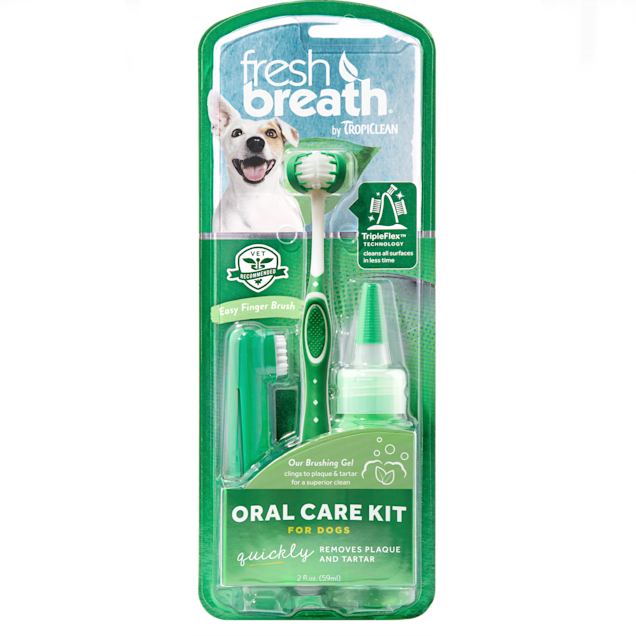 TropiClean Fresh Breath Oral Care Kit for Dogs - Carousel image #1