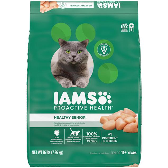 Iams ProActive Health Chicken Senior Dry Cat Food, 16 lbs. - Carousel image #1